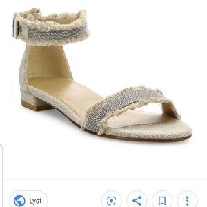 Stuart Weitzman Nudistchains sandals oat sz 9.5